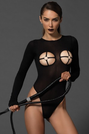 Leg Avenue Kink G-String Teddy with O-Ring Cups