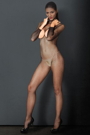 Leg Avenue Kink Hooded Fishnet Bodystocking