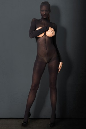 Leg Avenue Kink Opaque Hooded Bodystocking