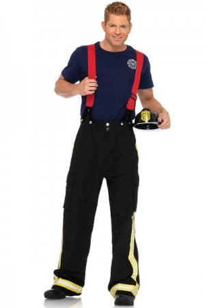 Leg Avenue Men's 3-Piece Fire Captain Costume