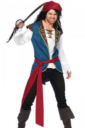 Leg Avenue Men's 3-Piece Pirate Scoundrel Costume