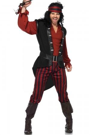 Leg Avenue Men's 4-Piece Captain Scurvy Costume