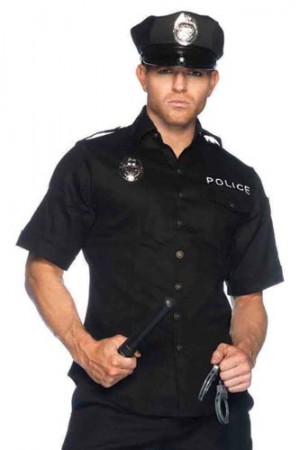 Leg Avenue Men's 4-Piece Cuff Em' Cop Costume