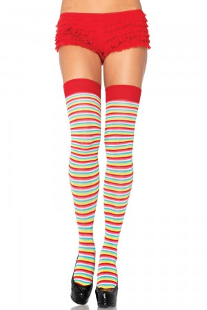 Leg Avenue Mini Rainbow Acrylic Thigh Highs