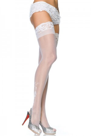 Leg Avenue Sheer Stay Up Thigh Highs