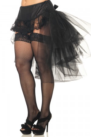 Leg Avenue Tulle Bustle Skirt with Lace Front