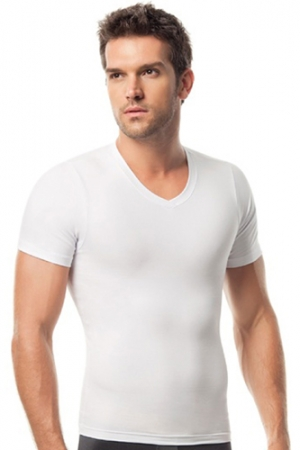 Leo V-Neck Compression T-Shirt