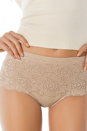 Leonisa Control Hiphugger Panty with Luxurious Lace