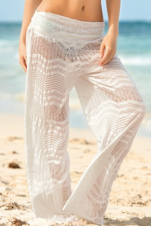 Leonisa Crochet Beach Pants