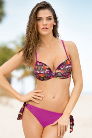 Leonisa Extreme Push-Up Top & String-Tie Bottom Bikini