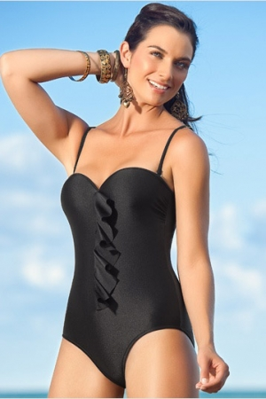Leonisa Firm Tummy Control One Piece Bathing Suit