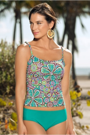 Leonisa Flattering Options Tankini with 2 Bottom Styles