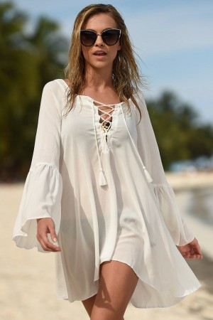 Leonisa Lace-Up Beach Dress