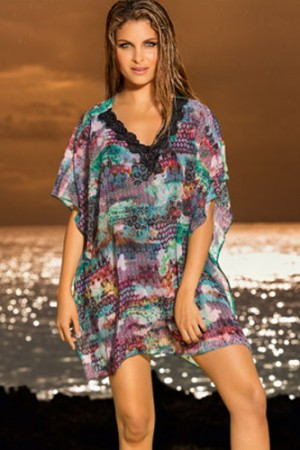Leonisa Mosaic Tunic Cover-Up