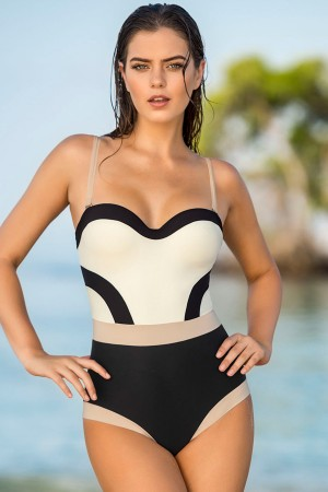 Leonisa Slimming Design One-Piece Bathing Suit