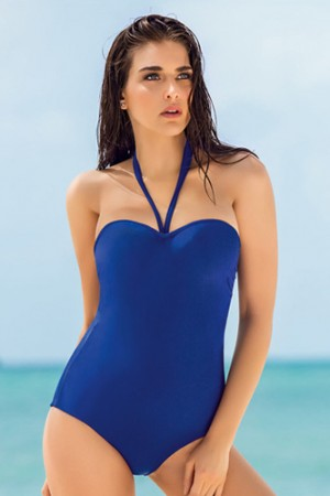 Leonisa Strapless Extra Firm Control One-Piece Bathing Suit