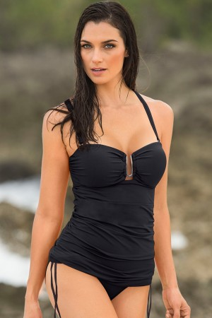 Leonisa Strapless Firm Control Tankini Swimsuit