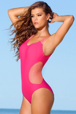 Leonisa Stunning Mesh One-Piece Swimsuit