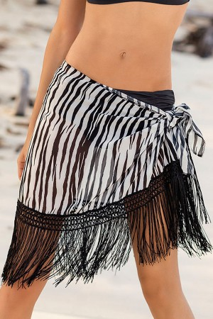 Leonisa Tassel Sarong Cover-Up