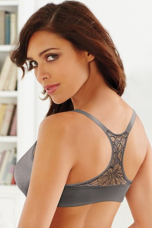 Lilyette by Bali Elegant Lift and Smooth Front Close T-Back Underwire Bra