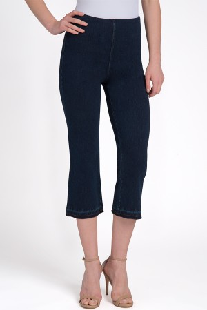 Lysse Denim Crop Flare Legging