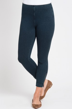 Lysse Denim Cuffed Crop High Waist Legging