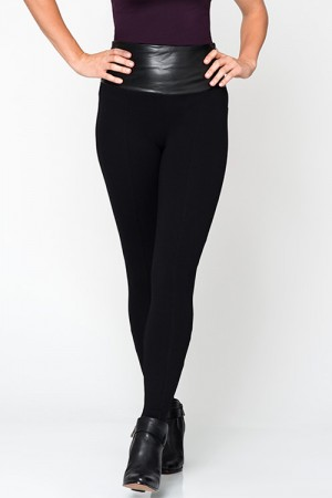 Lysse Fatale Vegan Leather High-Waist Leggings with Front Seams