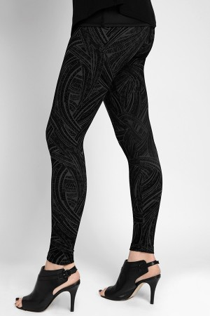 Lysse Flocked Geo Ponte Legging