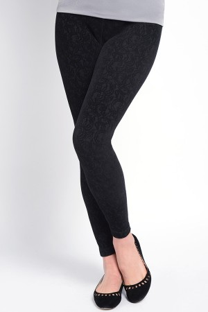 Lysse Flocked Lace Ponte Legging
