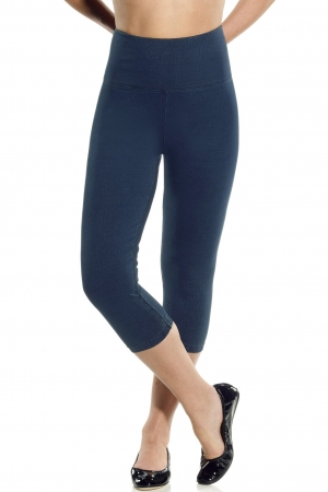 Lysse Perfect Wash Denim Knit Capri