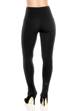 Lysse Stretch Knit Zipper Bottom Legging