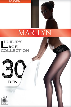 Marilyn Luxury Lace Sheer Tights 30 DEN