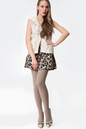MeMoi All Over Cable Sweater Tights