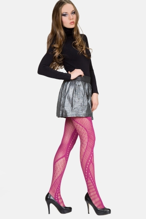 MeMoi Eclectic Edge Net Tights