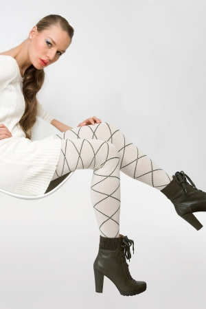 MeMoi Elegant Diamonds Sweater Tights