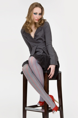MeMoi Flirty Stripes Nylon Spandex Tights
