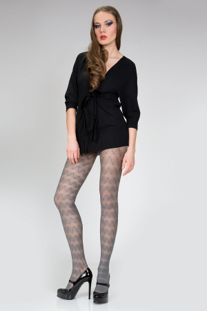 MeMoi Graphic Wave Nylon Spandex Tights