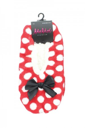 MeMoi Polka Fluff Low Cut Slippers