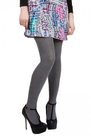 MeMoi Side Cable Sweater Tights