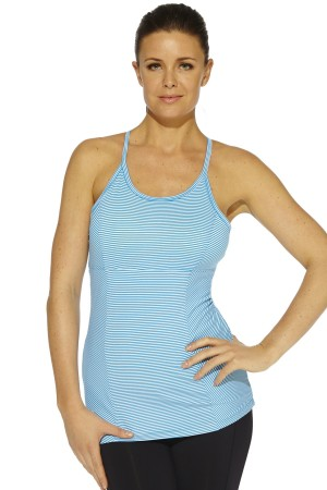 MSP by Miraclesuit Summer Stripe Scoop Neck Tank