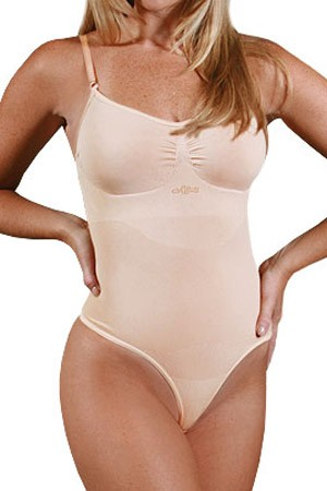 N-Fini Body Shaper Bodysuit with Shaper Bra Thong Panty