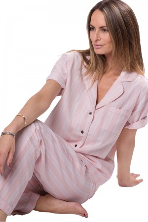 Naked Cotton Essentials Double Cloth PJ Set