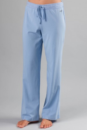 Naked Essential Cotton Stretch Pants with Gauze Trim