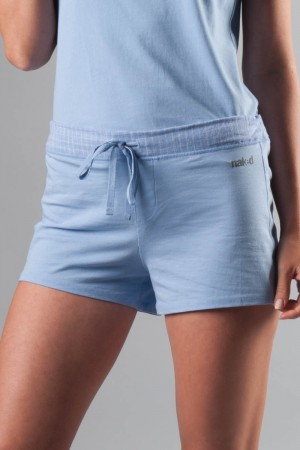 Naked Essential Cotton Stretch Shorts with Gauze Trim