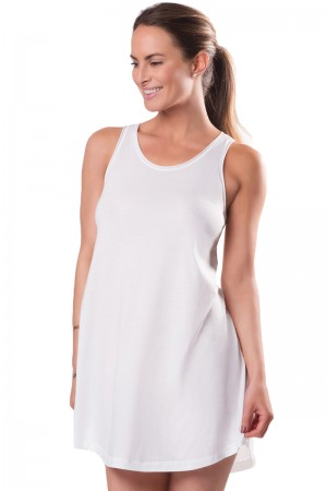 Naked Everyday Pima Cotton Mesh Trim Chemise