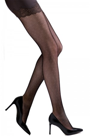 Natori Bristles Shine Net Tights