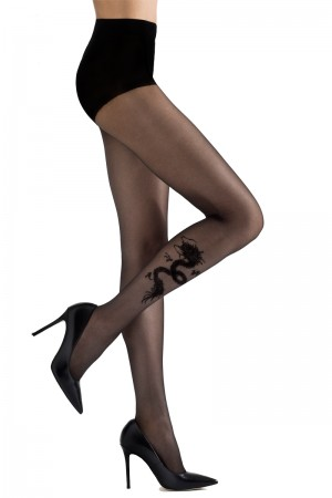 Natori Dragon Sheer Tights