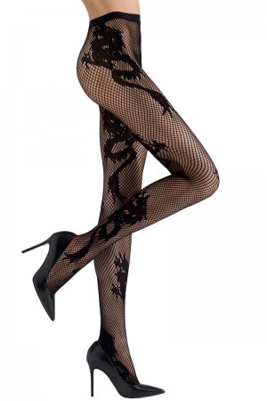 Natori Dragon Toss Net Tights