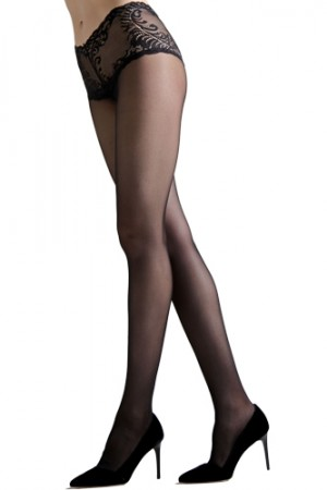 Natori Feathers Lace Top Sheer Pantyhose