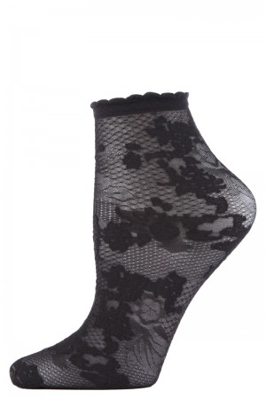 Natori Shortie Scarlet Lace Sock
